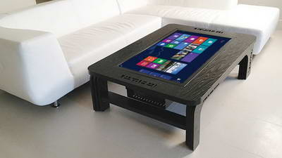 produk digital signage lcd touch table