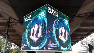 produk kreatif cube led display dago bandung
