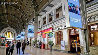 project transportasi led indoor stasiun jakarta kota jakarta