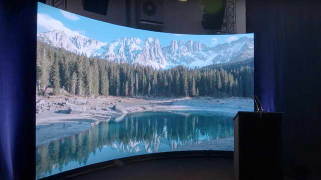 Immersive LED screen with scenery view content