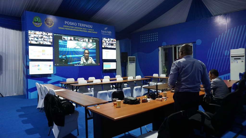 Posko Terpadu DISHUB JABAR dan LIMA pengendalian covid-19 Lebaran / Idul Fitri tahun 2021