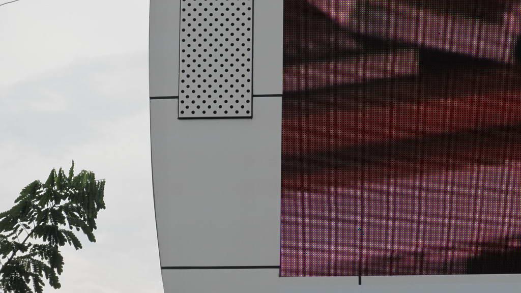 LED videotron sudah dilakukan pencucian led